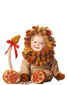 Costume da leone marrone per bebè