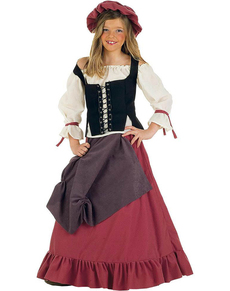 Costume da donna medievale Eliana bambina