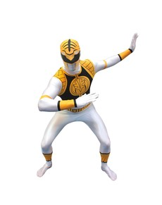 Costume Power Ranger Bianco Morphsuit