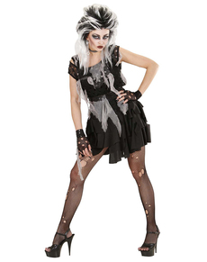 Costume da zombie punk da donna