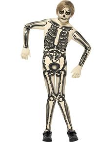 Costume da scheletro seconda pelle per bambino