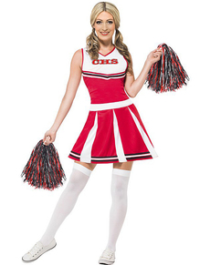 Costume da cheerleader universitaria da donna