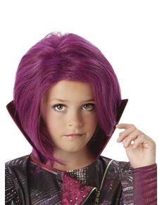 Parrucca viola Mal Descendants per bambina