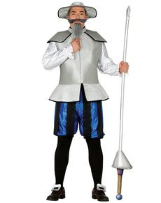 Costume da cavaliere contro i mulini a vento per uomo