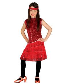 Costume da charleston rosso per bambina