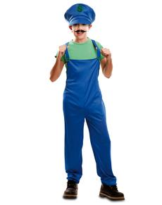 Costume da idraulico compagno d'avventure per bambino