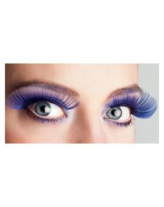 Ciglia blu lunghe per donna