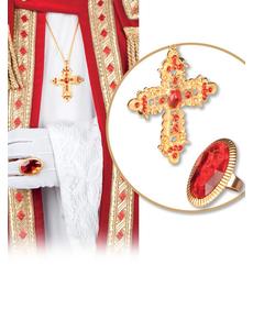 Kit anello e croce Cardinale per adulto