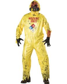 Costume da zombie radioattivo per uomo