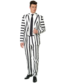 Abito Striped Black and White Suitmeister