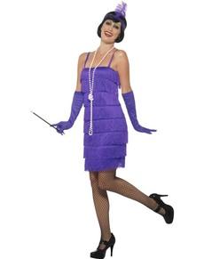 Costume da dama in viola anni '20 per donna