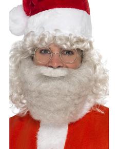 Barba da Babbo Natale deluxe per uomo