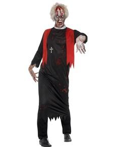 Costume da sacerdote zombie per uomo