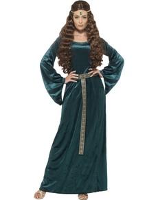 Costume da ancella medievale per donna